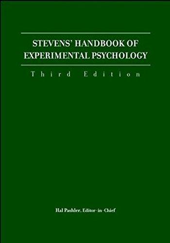 Steven's Handbook of Experimental Psychology. Third Edition. FOUR VOLUME SET