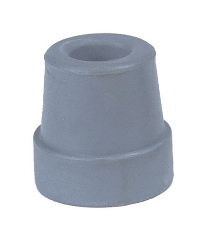 SPECIAL PACK OF 3-Univ Tips Grey 1 Shaft - Pr. for Crutch Walkers Commodes