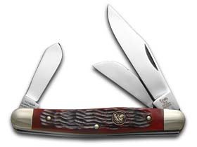 Red Jigged Stockman (Hen & Rooster HR313RPB Stockman Walnut Red Jigged Tactical Folding Knives)