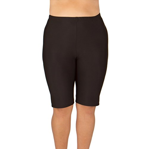 Women's Plus Size Swim Shorts - Black 1X