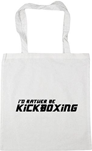 HippoWarehouse 42cm Be Kickboxing I'd litres 10 Shopping Rather x38cm Gym Tote Beach Bag White CUwpCx