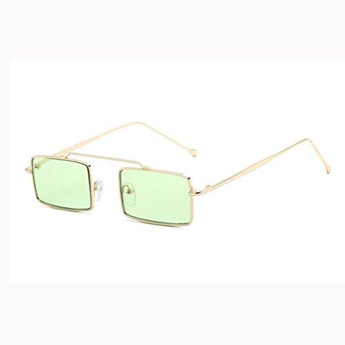 para Cuadrado Sol con Gafas verde Verde Mujer de Hunpta Unisex Integrado Marco nY8wnx