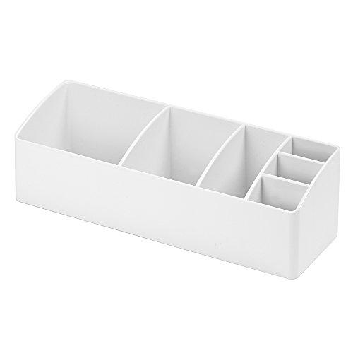 InterDesign Med+ Bathroom Medicine Cabinet Organizer, for Medical Supplies, Vitamins, Cotton Swabs - White