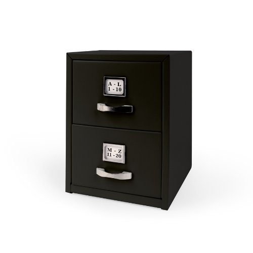 Kikkerland Mini Cabinet Card Holder, Black (OR21-BK) by Kikkerland