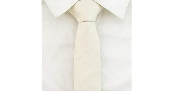 Corbata Beige Corbata Masculina Versión Coreana Estrecha Piel De ...