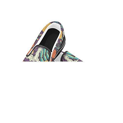 Unieke Debora Custom Fashion Dames Sneakers Ongebruikelijke Loafers Instappers Canvas Multicoloured19
