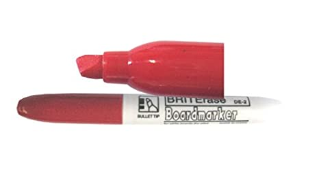 Amazoncom Briterase Dry Erase Markers Set Of 100 Red Chisel Tip