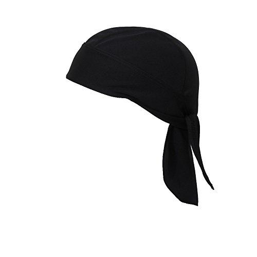Snowhale cycling running mask doo rag skull cap skull hat (Black)