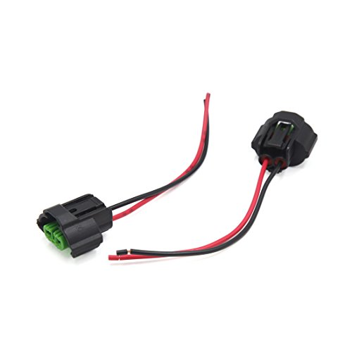 sourcingmap 2Pcs H11 Foglight Headlight Extension Wire Harness Socket Connector: