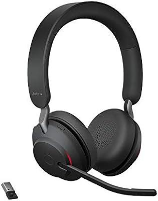 Adaptador Bluetooth USB-A Certificados para Plataformas UC Jabra Evolve2 65 Auriculares Inal/ámbricos Est/éreo con Cancelaci/ón de Ruido Negro Bater/ía de Larga Duraci/ón