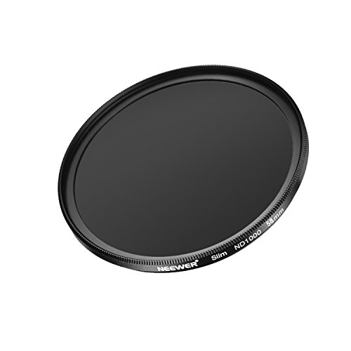 Neewer Slim 58MM Neutral Density ND 1000 Camera Lens Filter 10 Stop Optical Glass and Matte Black Flame for Lens with 58MM Thread Size, Ideal for Wide Angle Lenses