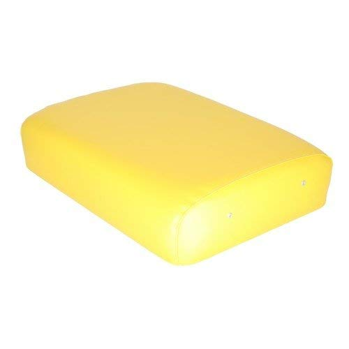 Seat Cushion Wood Backed Vinyl Yellow 19-1/2'' x 14-3/4'' Compatible with John Deere 70 840 60 50 730 620 520 D 630 830 G B 80 820 A 720 R 530 AF3268R