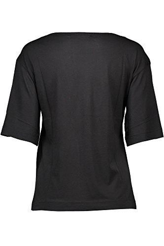 C74 Las Camiseta Negro F28 Mujer W M 01 Moschino Cortas Love 3519 4 Con Mangas qz6wF
