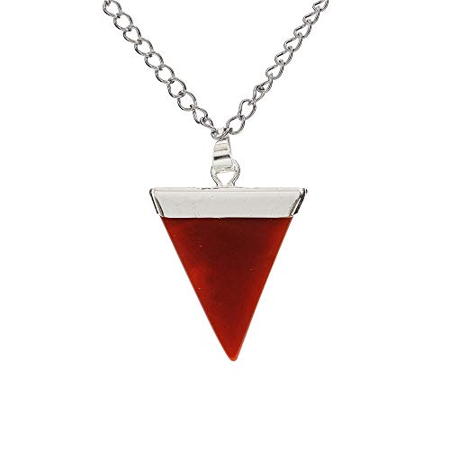 Natural Carnelian Gemstone Pendant Necklace Healing Crystal Reiki Chakra Gem Stones 18 Inch (1pc) Women Girls Men Gifts GGP-A1