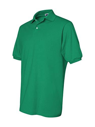 Green Kelly Polyester - Jerzees Men's Spot Shield Short Sleeve Polo Sport Shirt, Kelly Medium