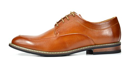 Bruno Marc Men's Prime-1 Brown Leather Lined Dress Oxfords Shoes – 13 M US