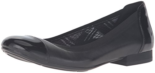 Naturalizer Women's Therese Ballet Flat, Black, 9.5 W US Black