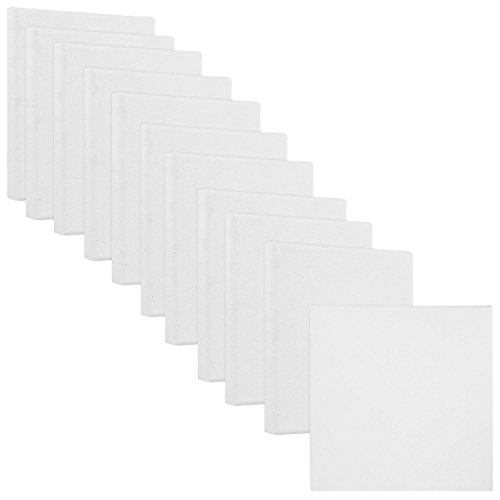 US Art Supply 4'' x 4'' Mini Professional Primed Stretched Canvas (1-Pack of 12-Mini Canvases) by US Art Supply