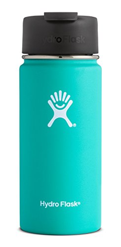 Hydro Flask 12 oz Double Wall Vacuum Insulated Stainless Steel Water Bottle / Travel Coffee Mug, Wide Mouth with BPA Free Hydro Flip Cap, Mint