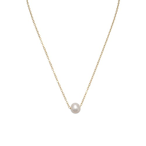 16-Inch 14/20 Yellow Gold Filled 9mm Floating Cultured Freshwater Pearl Cable Necklace ()