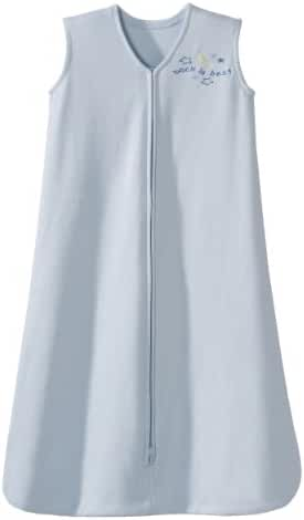 HALO SleepSack 100% Cotton Wearable Blanket, Baby Blue, Medium