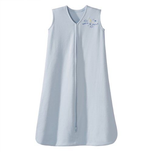 HALO SleepSack 100% Cotton Wearable Blanket, Baby Blue, Large