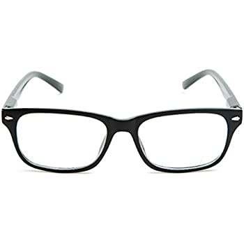 2ef123c74c5 The Williamsburg BIFOCAL Unisex Retro Square Reading Glasses + 1.25 Black
