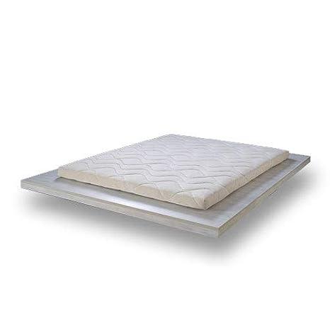 Cubrecolchones de alta gama, 100 % látex natural, 8 cm de grosor, estructura transpirable monobloque, tecnología Dunlop con 7 zonas, 80x200x8: Amazon.es: ...