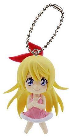 - Nisekoi Chitoge Kirisaki Swing Mini Figure Strap Mascot Keychain ~ Dress Ver.
