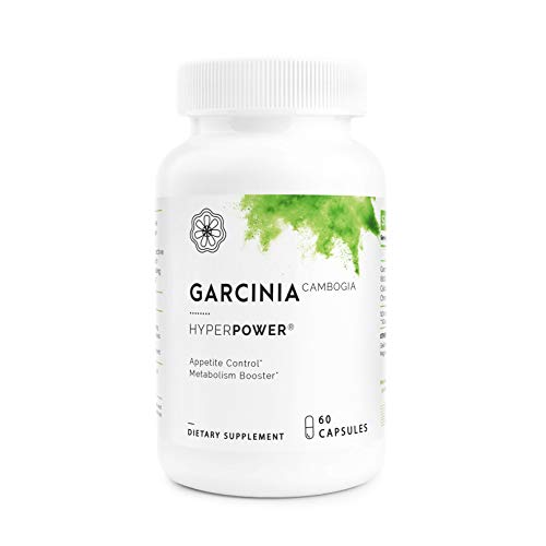 HyperPower Garcinia Cambogia Weight Loss Supplement - 100% Pure & Potent Hydroxycitric Acid AKA HCA - Superior Appetite Suppressant & Carb Blocker - 60 Pills, Made in USA