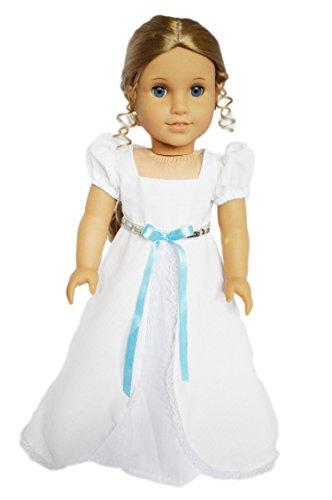 My Brittany's White Victorian Gown for American Girl Dolls-18 Inch Doll Clothes