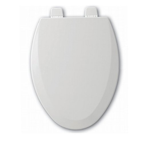 Bemis 1500TTT 000 Elongated Closed Front Molded Wood Toilet Seat, White