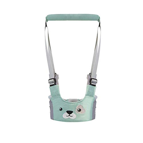 Baby Walking Harness Handheld Baby Walker, Safe Stand Hand Held Baby Walking Assistant Walking Helper, Breathable Safety Walking Harness Walking Belt for Toddler Infant, Adjustable(Green) from goowrom