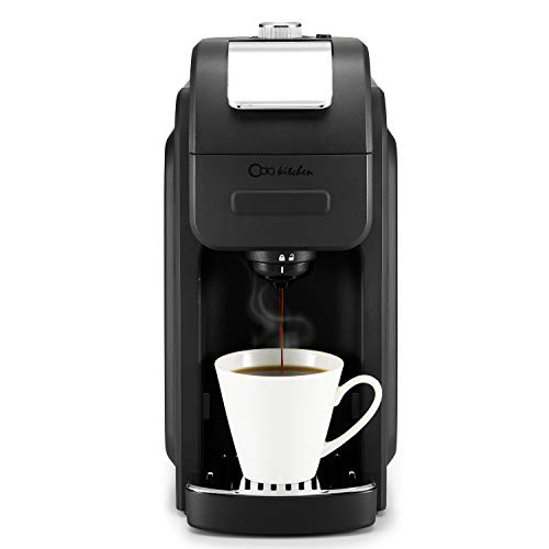 ODA KITCHEN 1128B Single Serve Coffee Maker Programmable with 50 oz Large Removable Reservoir Compatible with The Single Cup Pod, 6 to 16 oz Brew Size for Office, Travel, Black