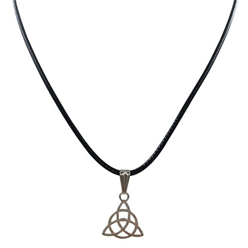 2018 Necklace,Leewos Women Retro Triangle Necklace Pendant Black Leather Cord Choker Charming Chain Jewelry Gift Set (Multicolor)