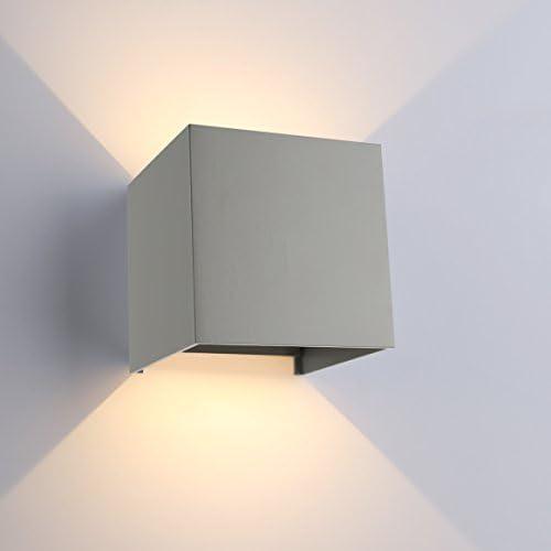 Wandlampe Außen Grau 2 Stück 3W LED Lichtstrahl oben /& unten