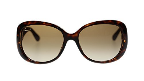 Gucci Women's Sunglasses GG3787 LWF Havana Brown/Brown Gradient Lens - Shades Gucci White