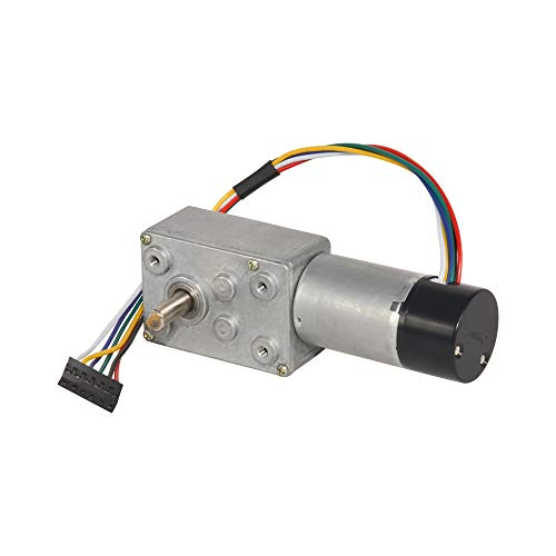 Mini Metal Worm Gear motor DC 12V High Speed 175RPM with Dual Channel Hall Sensor Encoder