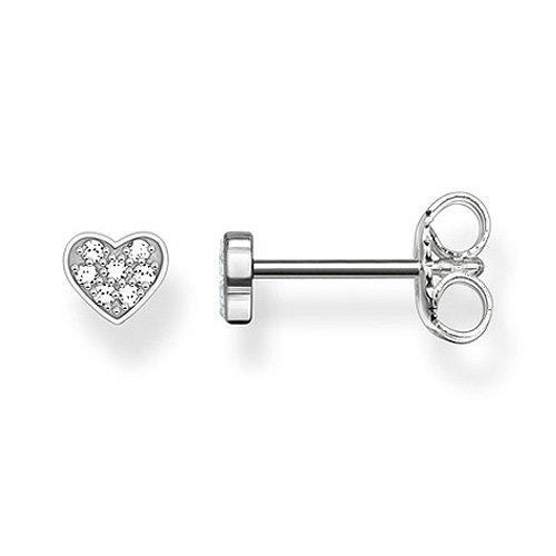 Thomas Sabo Femme  925  Argent #Silver    Blanc Diamant FINEEARRING