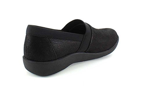 Clarks Womens Cloudsteppers Sillian Blair Slip-on Mocassino Nero