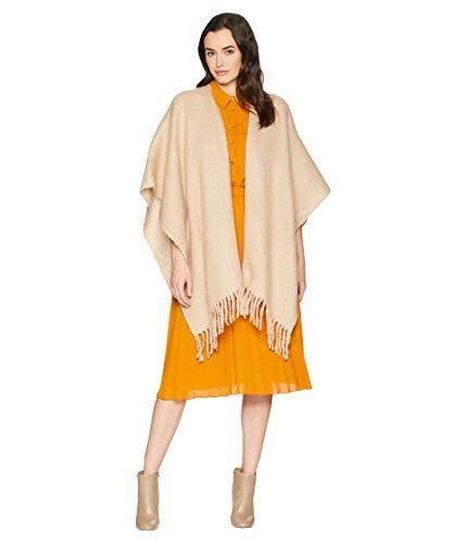 - Echo Women's Solid Boucle Ruana Wrap, Oatmeal, One Size