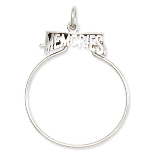 Icecarats Créatrice De Bijoux 14K Souvenirs En Or Blanc Titulaire De Charme