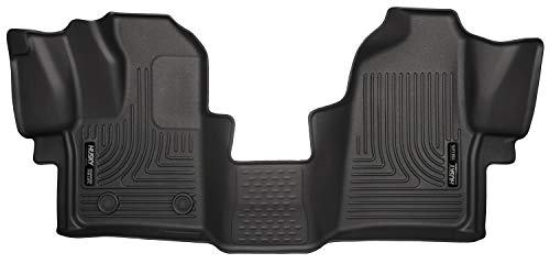 Ford Van Carpet - Husky Liners 18771 Black Weatherbeater Front Floor Liners Fits 2015-2019 Ford Transit-150, 2015-2019 Ford Transit-250, 2015-2019 Ford Transit-350