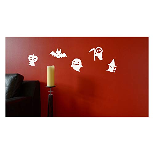Nine Chibi Halloween Characters Decals for Halloween Projects or Walls