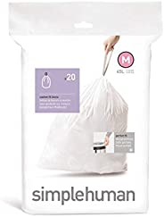 simplehuman Code C Custom Fit Drawstring Trash Bags, 10-12 Liter / 2.6-3.2 Gallon