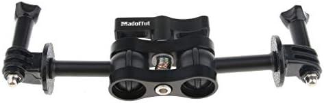 perfk DSLRカメラ用LCDモニタホットシューデュアルボールヘッドマジックアームマウントアダプタ
