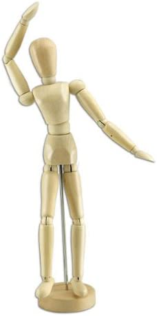 Creative Mark Wood Figure Manikins Sanded Wax Finish | Female | 8 Wood Figures for Teaching Perspective and Form - Smooth