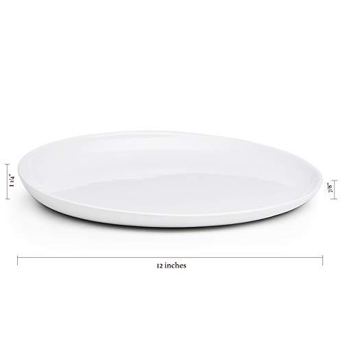 Maia Ming Designs | EVA Serving Platter | Glossy White Porcelain | Modern Tea Tray with Ergonomic Rim | Inspired by Eva Zeisel | Design Award