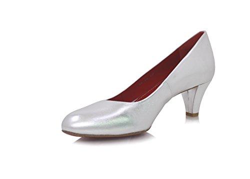 Diamond Heels Pumps Breiter Absatz 5cm Silber Metallic