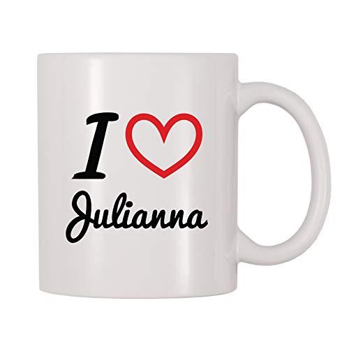 4 All Times I Love Julianna Personalized Name Coffee Mug (11 oz)